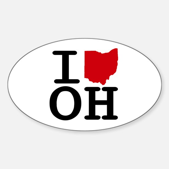 I Heart Ohio Oval Decal