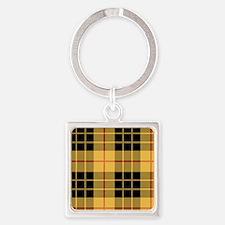 Yellow Argyle Square Keychain