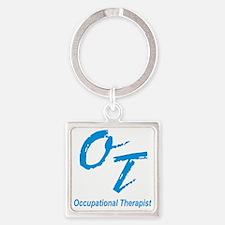 OT, blue Square Keychain