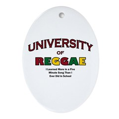 Reggae Music Oval Ornament