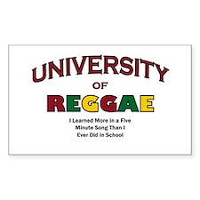 Reggae Music Rectangle Decal