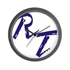 RT, purple Wall Clock