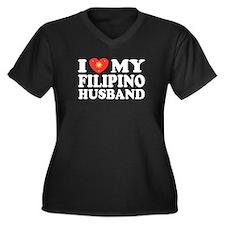 I Love my Filipino Husband Women's Plus Size V-Ne