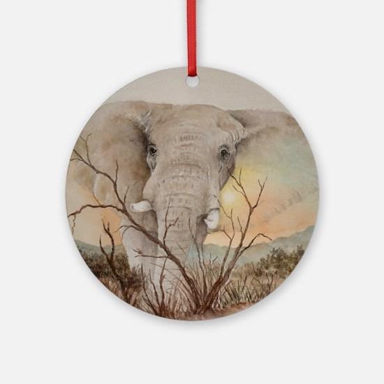 Ele Africa Round Ornament