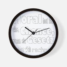 moral hat nur eine chance, wenn sie ges Wall Clock