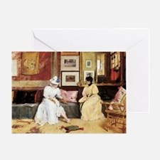 William Merritt Chase A Friendly Cal Greeting Card