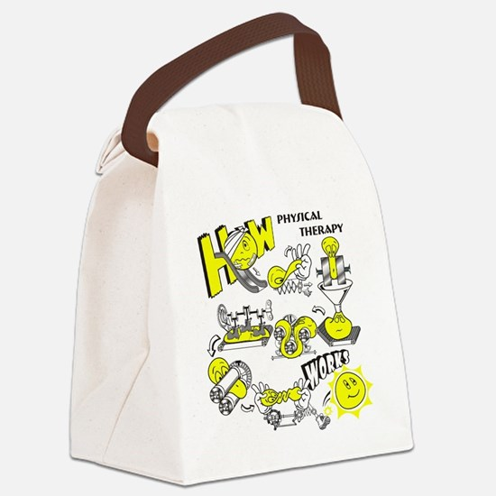 How physical therapy works Canvas Lunch Bag