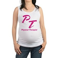 PT, red Maternity Tank Top
