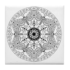 Moth Mandala Tile Coaster