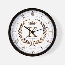 Napoleon initial letter K monogram Wall Clock