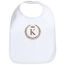 Napoleon initial letter K monogram Bib