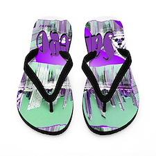 sandiego city art illustration Flip Flops