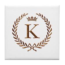 Napoleon initial letter K monogram Tile Coaster
