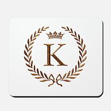 Napoleon initial letter K monogram Mousepad
