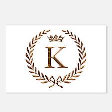 Napoleon initial letter K monogram Postcards (Pack