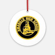 Amarillo High School Round Ornament