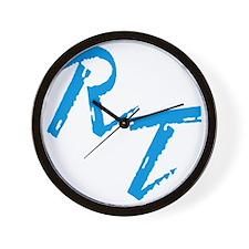 RT, blue Wall Clock