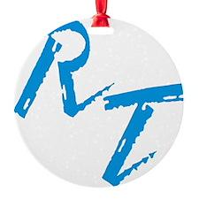 RT, blue Ornament