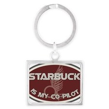 Starbuck is my co-pilot Landscape Keychain