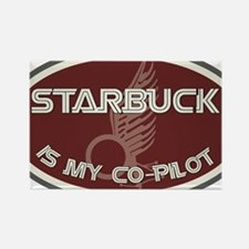 Starbuck is my co-pilot Rectangle Magnet