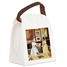 William Merritt Chase A Friendly  Canvas Lunch Bag