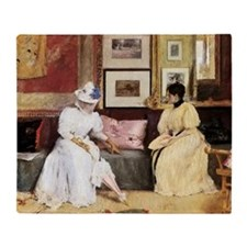 William Merritt Chase A Friendly Cal Throw Blanket