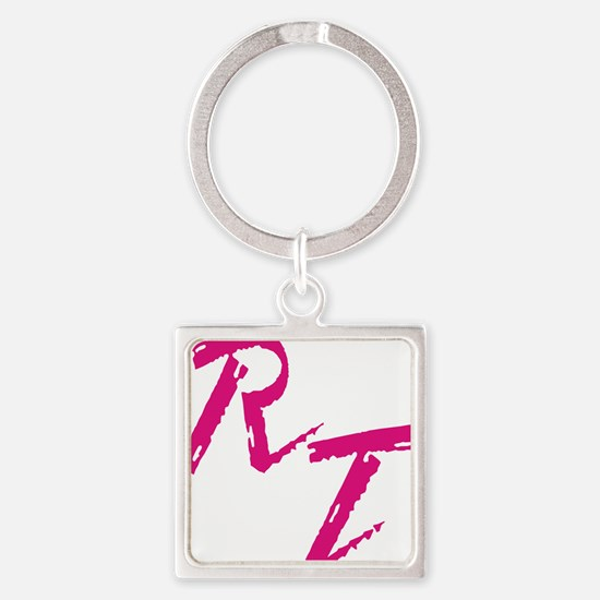 RT, red Square Keychain