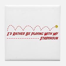 Stabyhoun Play Tile Coaster