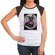 Scottish Terrier Valent Women's Cap Sleeve T-Shirt