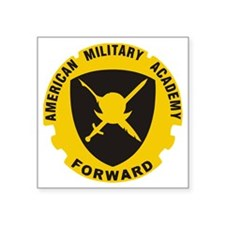 """American Military Academy S Square Sticker 3"""" x 3"""""""
