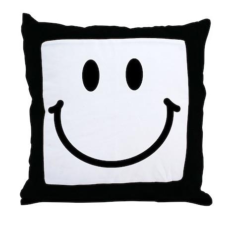 Smiley Face Throw Pillow
