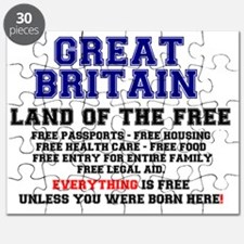 GREAT BRITAIN - LAND OF THE FREE! Puzzle