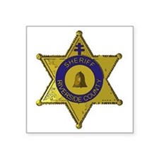 "Riverside County Sheriff ba Square Sticker 3"" x 3"""