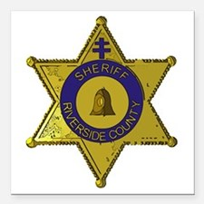 "Riverside County Sheriff Square Car Magnet 3"" x 3"""