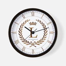 Napoleon initial letter L monogram Wall Clock
