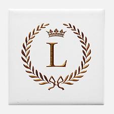Napoleon initial letter L monogram Tile Coaster