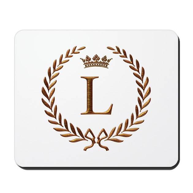 Napoleon initial letter L monogram Mousepad by jackthelads