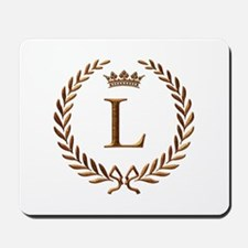 Napoleon initial letter L monogram Mousepad