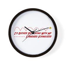 Schnauzer Play Wall Clock