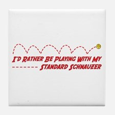 Schnauzer Play Tile Coaster