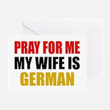 Pray Wife German Greeting Card