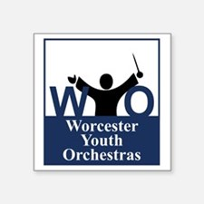 "Worcester Youth Orchestras  Square Sticker 3"" x 3"""