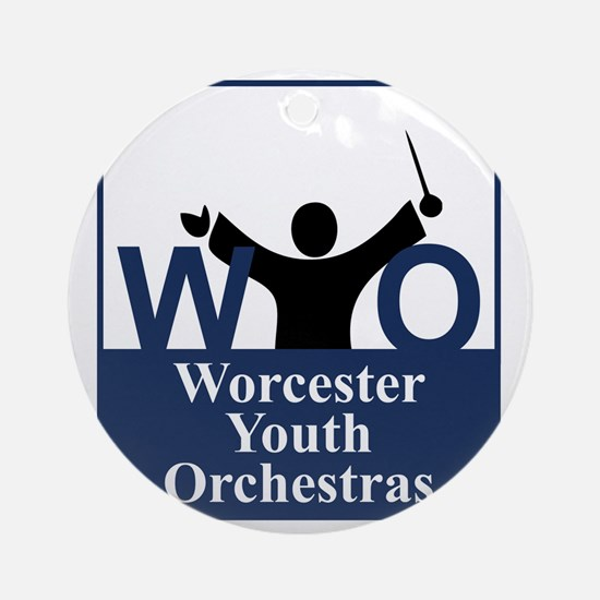 Worcester Youth Orchestras Block Lo Round Ornament