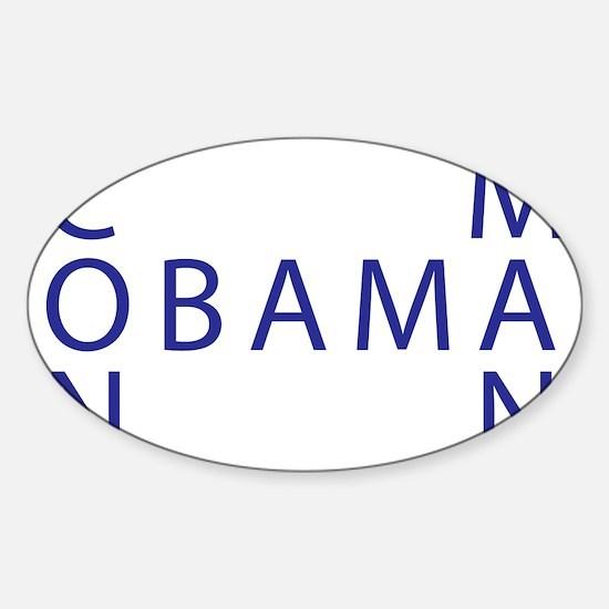 Obama the Con Man Sticker (Oval)