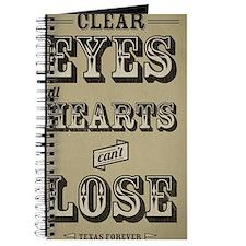 Clear Eyes Full Hearts Wide w/bkg Journal