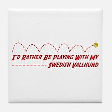 Vallhund Play Tile Coaster