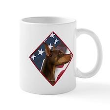 Doberman Flag 2 Mug