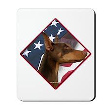 Doberman Flag 2 Mousepad