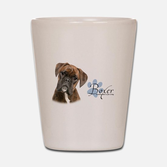 Boxer Puppy Shot Glass