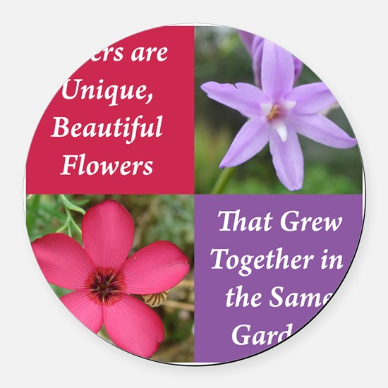 Sisters from the Same Garden Desi Round Car Magnet